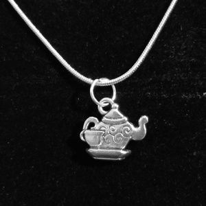 Little Teapot .925 Sterling Silver Necklace